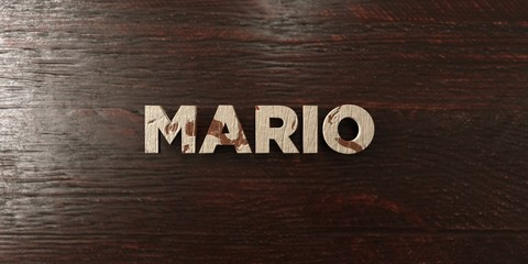 Mario - grungy wooden headline on Maple  - 3D rendered royalty free stock image. This image can be used for an online website banner ad or a print postcard.