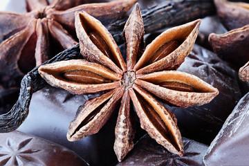 Star of Anise, Chocolate and Vanilla