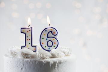 Cake: Celebrating A 16th Birthday