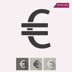 Euro - vector icon.