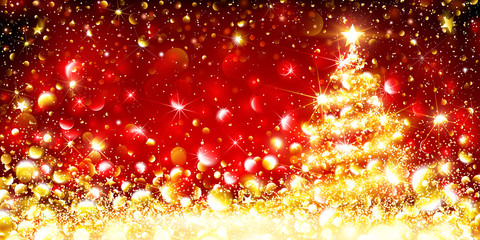 Golden Christmas Tree