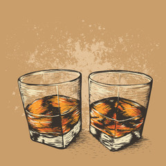 Whiskey in two glasses