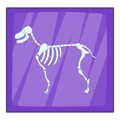 Dog skeleton icon. Cartoon illustration of dog skeleton vector icon for web