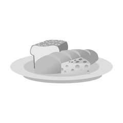 Bread icon. Healthy organic fresh and natural food theme. Isolated design. Vector illustration
