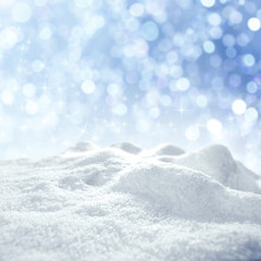 winter background of frost and snow