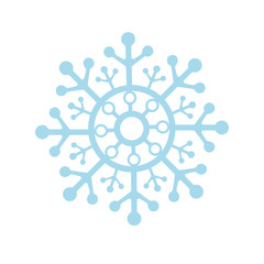 Snowflake Icon graphic. vector illustration, blue on white