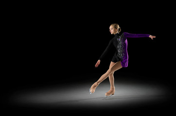 Young girl figure skater