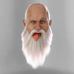 Santa loses it. Detailed 3D Render.
