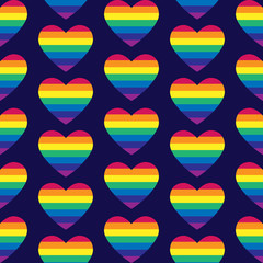 Vector gay seamless pattern. Gay pride seamless pattern. Seamles