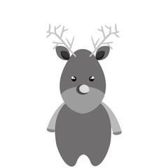 merry christmas reindeer icon vector illustration design