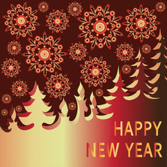 Snowfall. New year's eve. Vector image. Design greeting card, banner, poster, invitation ceremony.