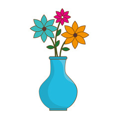 flower vase isolated icon vector illustration design
