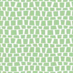 Seamless vector pattern. Green geometric background. Graphic illustration