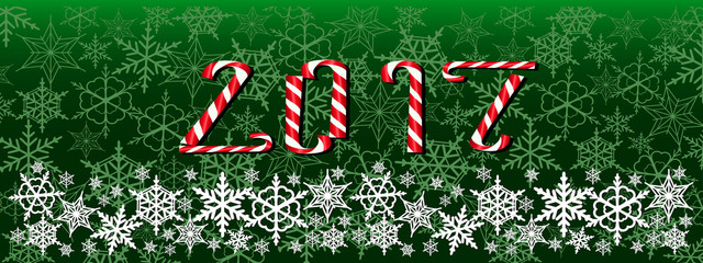 Christmas and new year dark green web banner