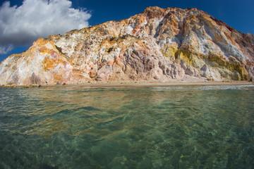 Natural colors of Firiplaka beach, Milos, Greece
