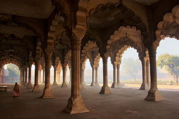 Diwan-i-Am - Hall of Public Audience in Agra Fort, Uttar Pradesh