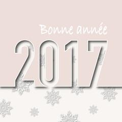 2017 - Carte de vœux - Noël - Flocon