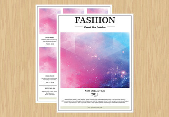 Fashion Product Flyer Layout