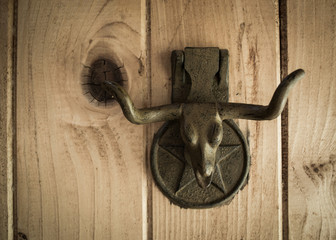 Longhorn door knocker
