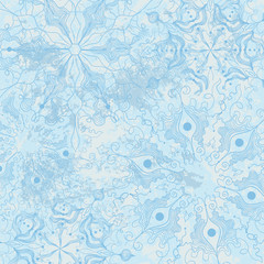 Background with decorative snowflakes