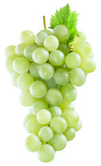 Bunch of white grapes. File contains clipping paths.