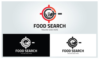 Food search logo design template ,Vector illustration