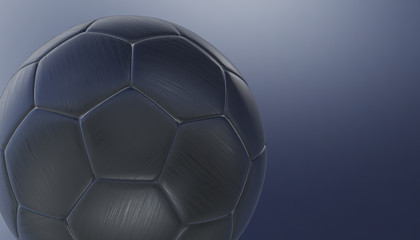 Footbal ball on various material and background, 3d render