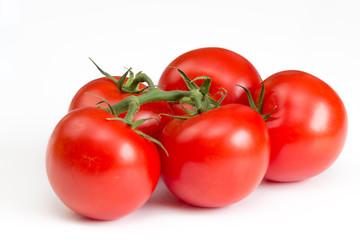 Tomaten auf weißem Hintergrund