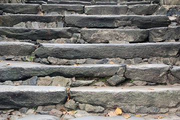 Stone steps of the ancient staircase
