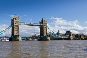 Tower Bridge under a blue sky
