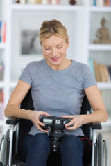 portrait of a smiling woman using a camera