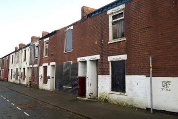 slum housing, derelict and rundown social housing. kingston upon Hull