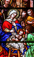 Wall Mural - Stained glass in Bariloche - the Nativity