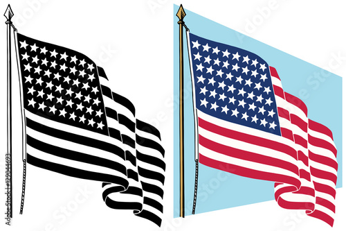 american flag waving in the wind stock image and royalty free rh us fotolia com waving american flag vector art waving american flag vector file