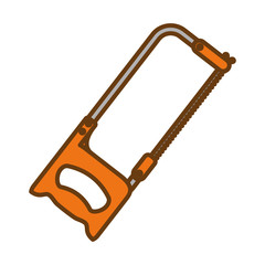 hacksaw tool icon image vector illustration design