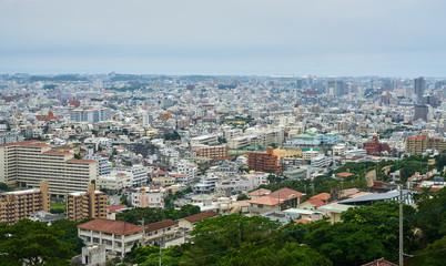 Panorama of Naha from Shuri Castle, Okinawa