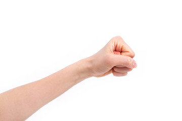 fist punching isolated, hand gesture concept of violence, force, aggression, protest, attack, revolution, conflict, fighting