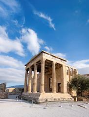Fototapete - Erechtheion temple Acropolis, Athens, Greece, panorama