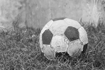 old football black and white