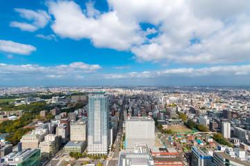 Deurstickers Buenos Aires Aerial view toward northern Sapporo, Hokkaido, Japan