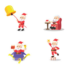 santa 7 cartoon set