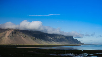 Panorama of Hornafjordur and Stokksnes, Eastern Iceland