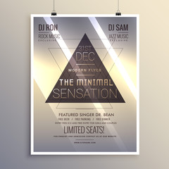minimal flyer template for new year eve