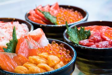海鮮丼 / 北海道の市場