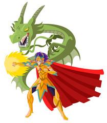 powerful anime manga armored knight hero fire punch and dragon
