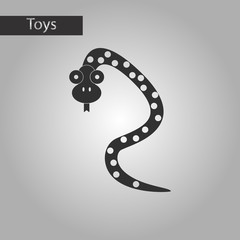 black and white style toy snake
