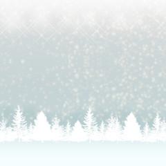 クリスマスのモミの木と雪のバックグラウンド