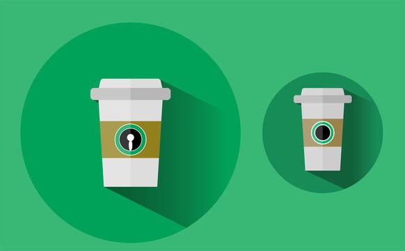 スターバックスコーヒーのフラットデザイン/ベクター素材
