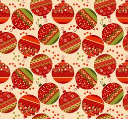 vintage ornament patchwork xmas bubbles seamless pattern. cosy C