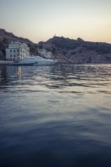 Балаклавская бухта на закате